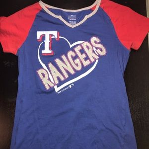 red,white, and blue rangers shirt